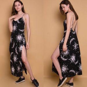 Dresses & Skirts - My Sun And Stars Cosmo Print Maxi Dress